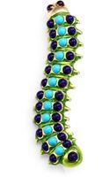 Kenneth Jay Lane Enamel Caterpillar Pin - Lyst
