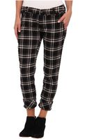 Free People Plaid Crinkle Pant - Lyst