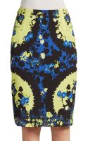 Erdem Frida Printed Silk Pencil Skirt - Lyst