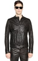 Belstaff Kirkham Tumbled Leather Moto Jacket - Lyst