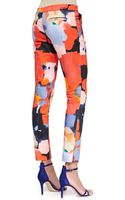 Lela Rose Painterly Printed Caroline Pants - Lyst