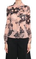 RED Valentino Silk Muslin Shirt with Tattoo Print - Lyst