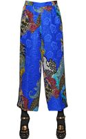 Etro Floral Printed Viscose Blend Trousers - Lyst