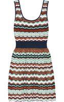 M Missoni Crochetknit Cottonblend Dress - Lyst