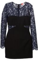 MSGM Lace Panel Dress - Lyst