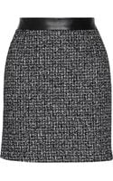 Proenza Schouler Leathertrimmed Tweed Mini Skirt - Lyst