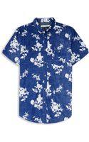 Ben Sherman Floral Print Ss Shirt - Lyst