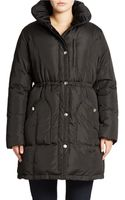 DKNY Plush-lined Down Coat - Lyst