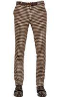 Etro 19cm Gingham Wool Trousers - Lyst