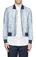 3.1 Phillip Lim Cracked Leather Bomber Jacket - Lyst
