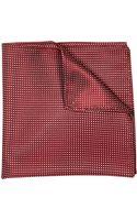 River Island Dark Red Polka Dot Handkerchief - Lyst