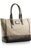 Calvin Klein Logo Jacquard Fabric Shopper Tote Bag - Lyst