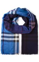 Burberry London House Check Fringed Scarf - Lyst