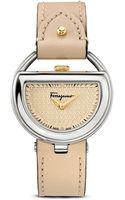 Ferragamo Stainless Steel Champagne Dial Watch 37mm - Lyst