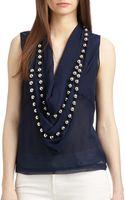 Diane Von Furstenberg Amya Embellished Silk Top - Lyst