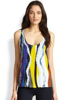 Diane Von Furstenberg Jackie Silk New Candy Branch Sequin Top - Lyst
