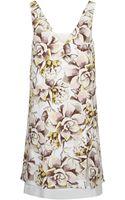 Topshop Floral Print Shift Dress - Lyst