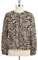 Calvin Klein Cheetah Print Bomber Jacket - Lyst