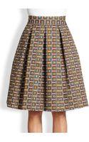 Stella Jean Pleated Geometricprint Skirt - Lyst