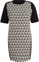 River Island Black Geometric Print Shift Dress - Lyst