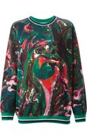 MSGM Abstract Printed Sweatshirt - Lyst
