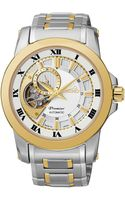 Seiko Mens Automatic Two-tone Stainless Steel Bracelet Watch 42mm Ssa216 - Lyst