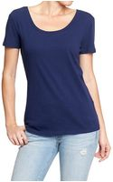 Old Navy Scoop Neck Tees - Lyst