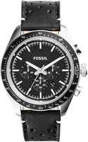 Fossil Mens Chronograph Edition Sport Black Leather Strap Watch 45mm - Lyst