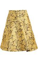 Stella McCartney Flared Python Skirt - Lyst