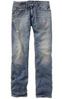 Gap Slim Fit Jeans Medium Tint Destructed Wash - Lyst