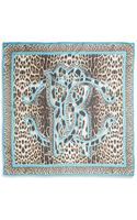 Roberto Cavalli Logo Leopardprint Silk Scarfpink - Lyst