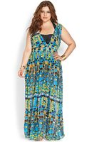 Forever 21 Flowy Brushstroke Cover Up - Lyst