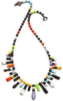 Tom Binns De Stijl Neon Jewel Necklace Neon Multi - Lyst