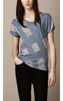 Burberry Check Graphic Tshirt - Lyst