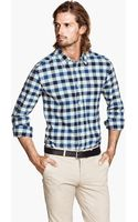 H&M Checked Oxford Shirt - Lyst