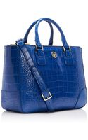 Tory Burch Robinson Alligator Double Zip Tote - Lyst