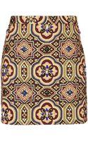 Topshop Embellished Folk Jacquard Skirt - Lyst