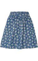 Cutie Ditsy Denim Skirt - Lyst