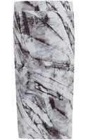 Helmut Lang Ivory Layered Print Jersey Skirt - Lyst
