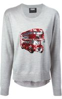 Markus Lupfer London Bus Sequin Joey Sweater - Lyst