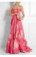 Delpozo Floralprint Silkblend Gazar Gown - Lyst