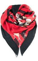 DSquared2 Check Cartoon Print Scarf - Lyst