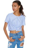 Nasty Gal Tie The Knot Crop Top - Lyst