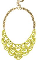 Elizabeth Cole Goldtone Swarovski Crystal Necklace - Lyst