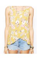 Flynn Skye Tulip Tank Top in Mustard Poppy Print - Lyst