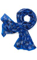 Tory Burch Stamped T Scarf - Lyst