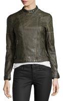 Bagatelle Faux-leather Asymmetric-zip Moto Jacket - Lyst