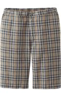 Uniqlo Men Linen Cotton Relaxed Shorts Check - Lyst