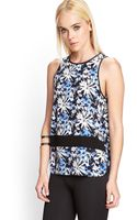 Forever 21 Floral Print Tank Top - Lyst