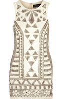 Needle & Thread Sunstone Embellished Chiffon Mini Dress - Lyst
